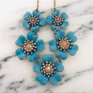 J.Crew Statement Necklace with Turquoise Flowers